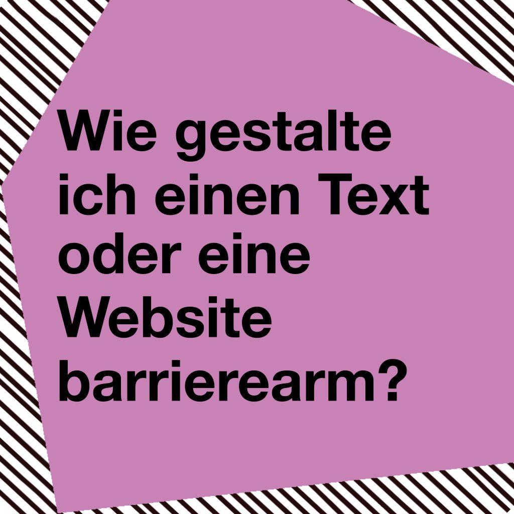Klicken und mehr zur barrierearmen Webseitengestaltung erfahren.