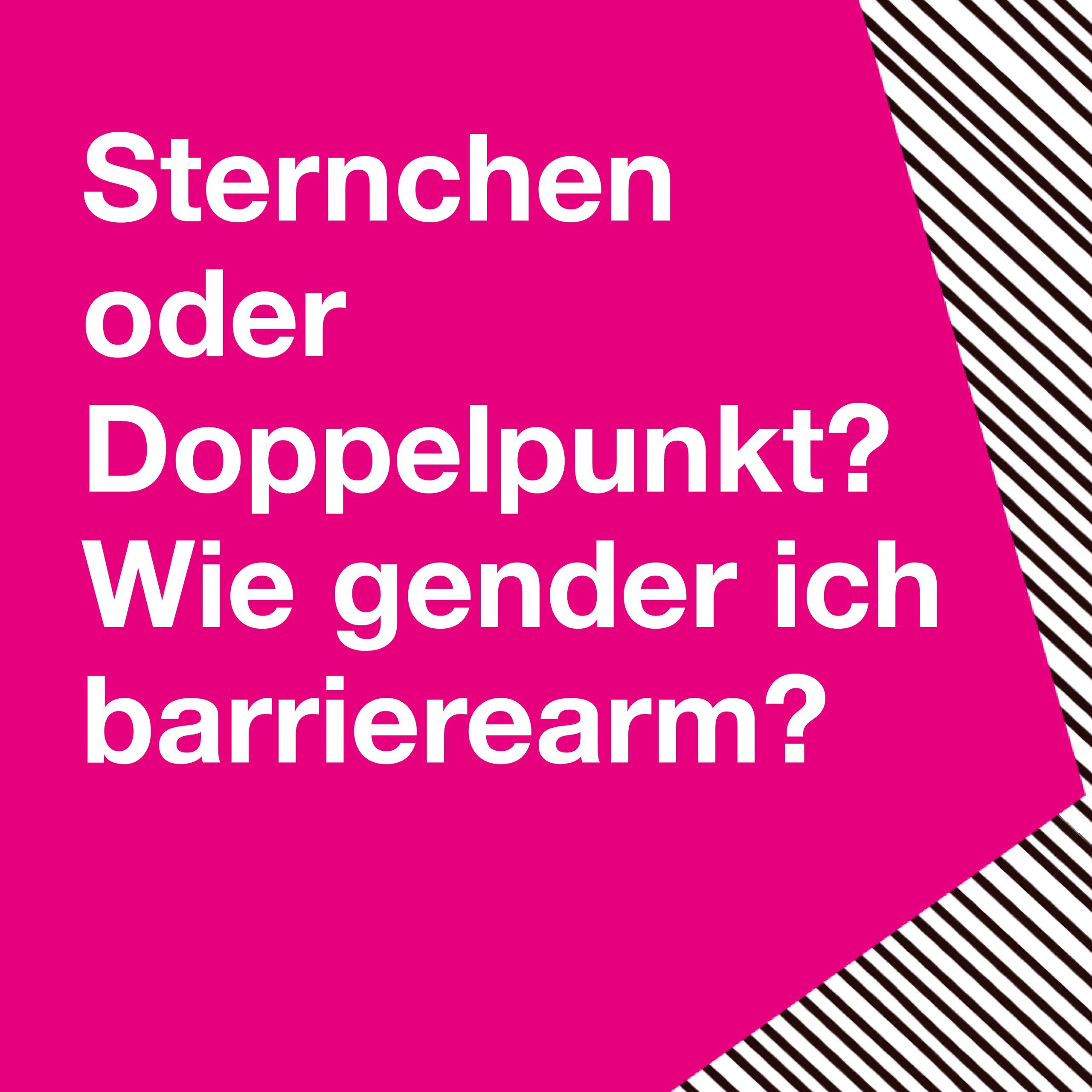 Klicken und mehr zum barrierearmen Gendern erfahren