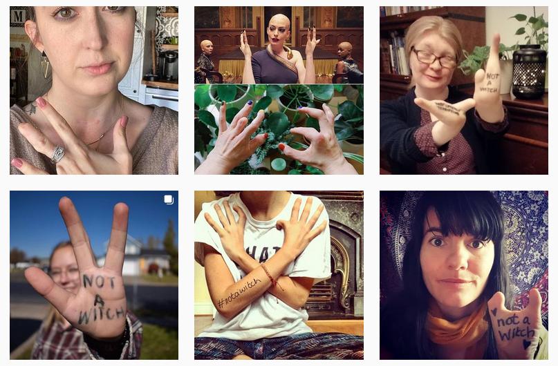 Screenshot des Hashtags Not A Witch