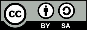 Logo Creative Commons Lizenz CC BY SA